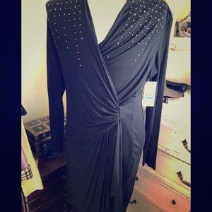 Black cross front Karen Kane dress
